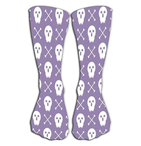 Xunulyn Hohe Socken Women's Girls Novelty Socks Funny Boot Sock 19.7