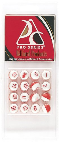 Pro Series CLM-16 Red Plastic Scoring Pills for Kelly Pool in Hang Pack (Pro Series Pools)
