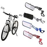Helt hus cykelspegel, 1 par justerbar roterande flexibilitet cykelstyre backspegel cykling MTB elektriska bilar rektangel ref