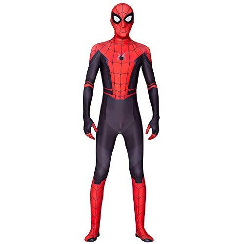 Superhelden Kostüm Neue - KOUYNHK Erwachsene Kinder Neue Spider Man Weit Von Zuhause Cosplay Kostüm Zentai Spiderman Superheld Body Spandex Anzug Nach Maß,Adult-S