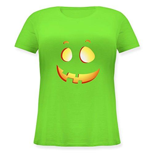 Halloween - süßer Halloween-Kuerbis Kinder - XL (50/52) - Hellgrün - JHK601 - Lockeres Damen-Shirt in großen Größen mit Rundhalsausschnitt