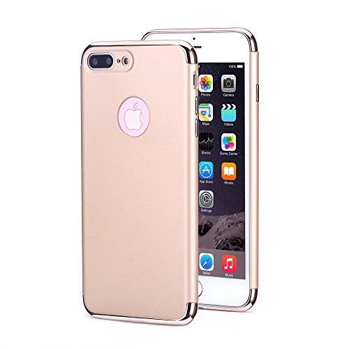 Bepack Coque iPhone 7 Plus, Anti-rayures Antidérapantes Slim Fit Avec électrodéposition Cadre Soft Touch Mat Couverture Rigide de Protection pour Apple iPhone 7 Plus 5.5 '' Gold