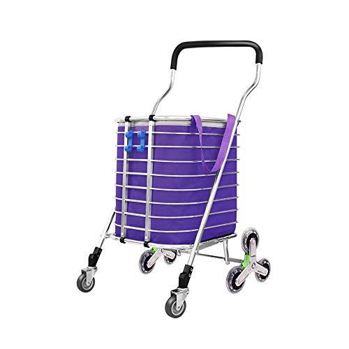 Zusammenklappbarer Einkaufswagen mit kletternder Treppe beim Kauf von Lebensmittelanhänger Multifunktions-Gepäckanhänger GW