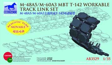 Unbekannt Bronco Models AB3529 - Modellbau Zubehör US M-48A5/M-60A3 MBT T-142 Workable Tra Preisvergleich