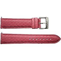 Watch Strap in Pink Snake skin - 20 - - buckle in stainless steel - B20050