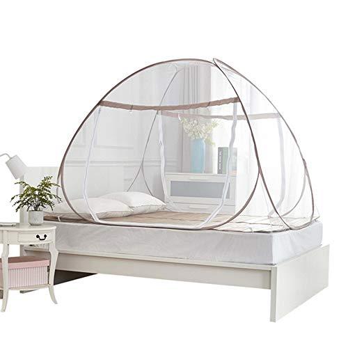 LIJIE Moskitonetze, tragbar, kostenlose Installation und Faltnetze, Pop-Up-Zelt, Mückenschutz, verhindert Insekten, Doppelbett, Einzelbett, Innen- und Außenbereich, 180 * 200cm