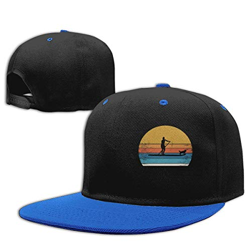 Roing BO Surfer and Dog Hip Hop Hats Cotton Baseball Hat Boy&Girl Blue