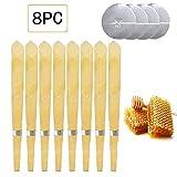 Candele per orecchie Kata Candele auricolari Cono Cera d'api Giallo(8 Pezzi, 4x Set Di 2) (Type1)