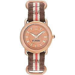 Sperry 103061 Frauen Multicolor Nylonband Rose Gold Zifferblatt Smart Watch