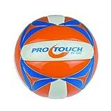 Pro Touch Beach-Volleyball BV-1000 Beachvolleyball, Orange/Ws/Silb, One Size