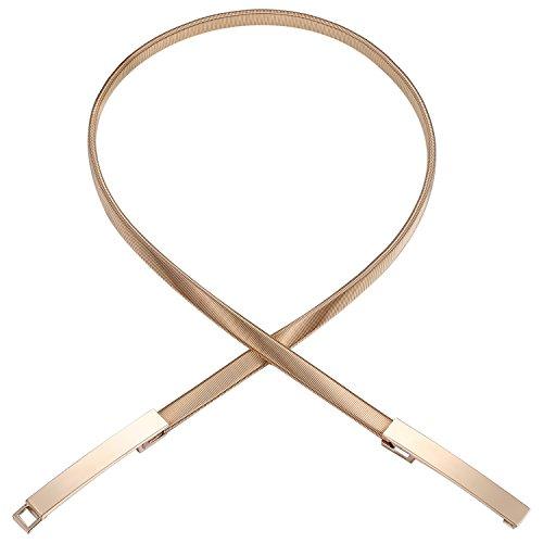 BABEYOND Damen Taillengürtel Metallic dekorativ Gürtel schmal Gürtel elastisch Taille Strap Stretchy modisch Gürtel für Kleider (Style-6-gold)