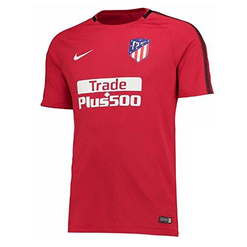 Nike Atm M Nk Brt Sqd Top Ss Camiseta de Manga Corta Atlético de Madrid, Hombre, Rojo (Sport Red/Sport Red/Black/White), S