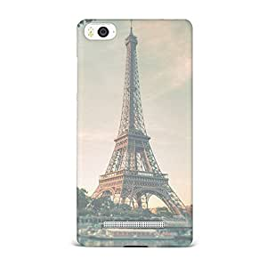 Xiaomi Mi 4i Transparent Printed Design [Scratchproof + Protective] - French Eiffel Tower Photography Case