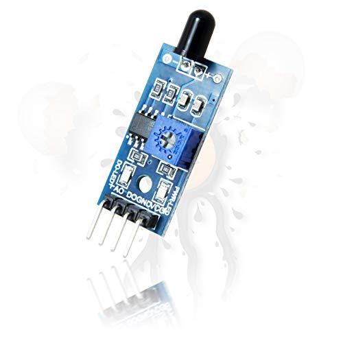 IR Infrarot Flammen Flame Temperatur Sensor 4 Pin Vers. analog digital Out Modul LM393 für Arduino -