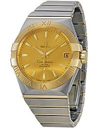 Omega constelación cronómetro automático Champagne Dial Mens Reloj 12320382108001