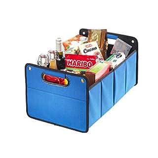 Kofferraumtasche aus Polyester mit stabilem Boden (blau - neutral) - Klappbox Kofferraumbox Faltbox Organizer Autobox Tasche Auto Kofferraum Zubehör CB Präsentwerbung GmbH
