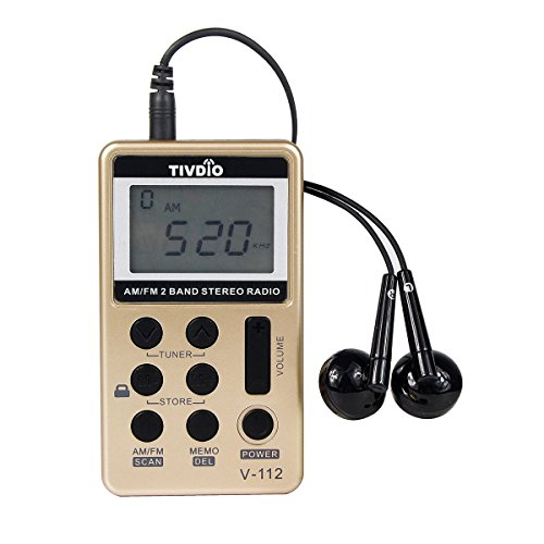 tivdio-v-112-portable-am-fm-radio-pocket-handheld-receiver-rechargeable-with-earphone-gold
