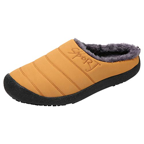 Scarpe da Trail Running Scarpe Moda Sportive Scarpa da Tennis Pantofole Ciabatte Invernali Slipper Ciabatte Zoccoli (48 EU,Uomo-Giallo)