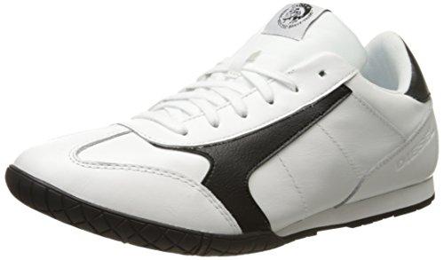 DIESEL S-Actwyngs Schuhe Herren Echtleder-Sneaker Turnschuhe Schwarz Y01332 P0996 H1527, Größenauswahl:43