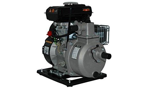 YERD Benzin-Wasserpumpe BW QDZ25-35 (4-Takt Motor, 1,5 PS, 1″ Zoll Anschlüsse) - 4
