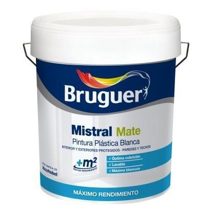 Bruguer 5056360 - Pintura plástica Bruguer BLANCO mate Mistral 4 L