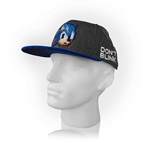 Image of Sonic the Hedgehog Sonic Pixelated Don't Blink Snapback Cap