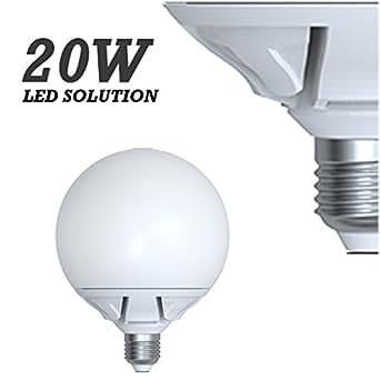 e27 matt spherical led warm white light bulb 20w 200w 1840 lumens 3000k lighting. Black Bedroom Furniture Sets. Home Design Ideas