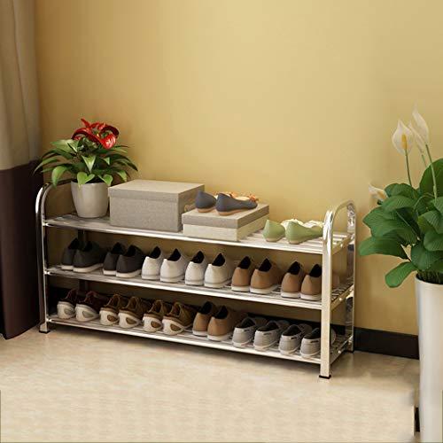 3-tier Schuhregal,stabile Langlebige Shoe Rack,abnehmbare Regale Für Schuhe Organizer Multipurpose Aufbewahrungs-weiß 100x25x49cm(39x10x19inch) - 3-tier Shoe Rack