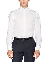 Seidensticker Herren Businesshemd Modern Langarm mit Kent-Kragen und Umschlagmanschette aber ohne Manschettenknopf bügelfrei