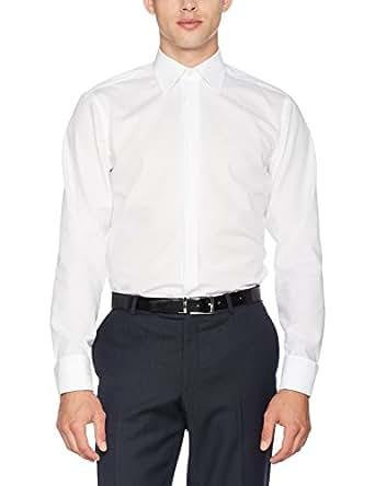 SEIDENSTICKER Herren Hemd Modern 1/1-Arm Bügelfrei Uni / Uniähnlich City-Hemd Kent-Kragen Umschlagmanschette