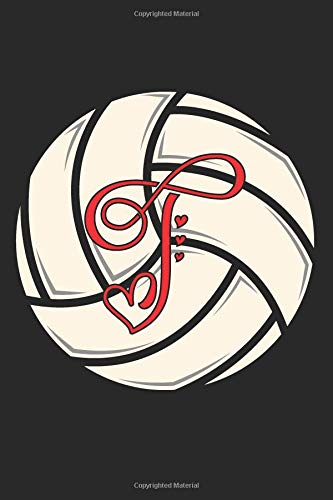 T: Volleyball Journal Monogram Initial T Personalized Volleyball Gift for Players Coach Students Teachers (Volleyball Lovers) por Happy Healthy Press