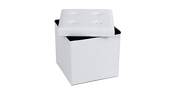 Panca Contenitore Bianca : Pouf panca contenitore bianca misura piccola: amazon.it: casa e cucina