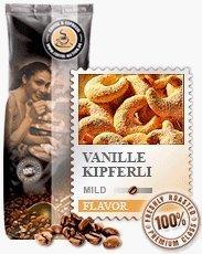 Coffee-Nation Aroma-Kaffee Vanillekipferli 1000g Bohnen | Spitzenqualität | Kaffeeliebhaber