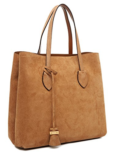 scamosciata borsa shopping Marrone Coccinelle Suede in Celene Coccinelle pelle Celene wq8FB47
