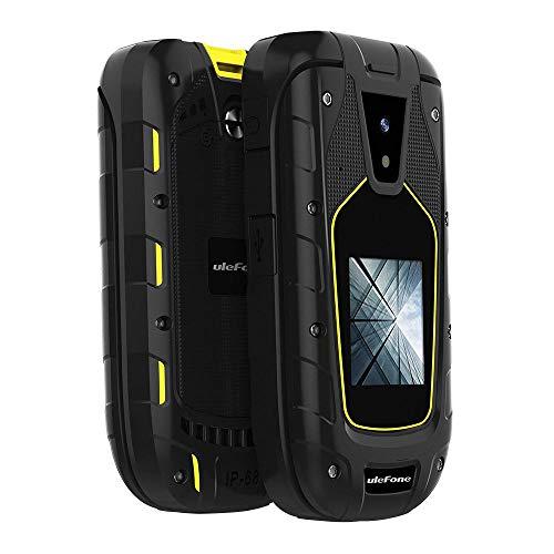 Roebii Flip Phone Mobile,Outdoor-Handy mit IP68 / IP69K wasserdicht staubdicht stoßfest Funktion, LED-Taschenlampe SOS-Funktion 2,4 Zoll große Speaker Rugged Handy für den Außenbereich