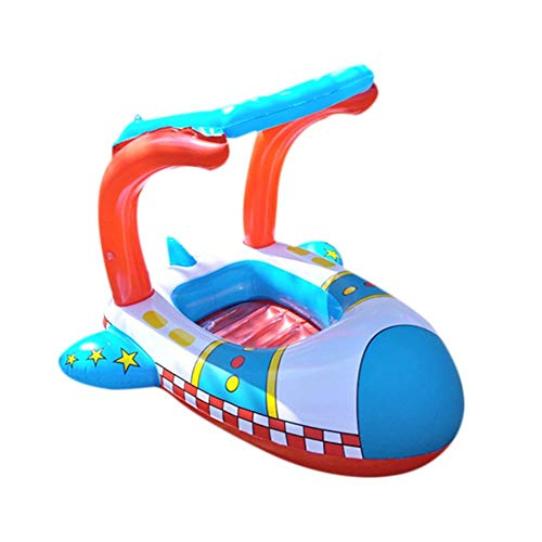 Heoolstranger Schlauchboot Kinder, schwimmringe für Kleinkinder, Wasserboot-Markise Schwimmsitz für 2-6 Jahre altes Baby