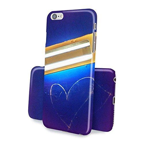 FINOO ® | Iphone SE Hardcase Handy-Hülle | 3D Vollbedruckte Hart-Back Cover Schale mit Motiv Muster | Tasche Case mit Ultra Slim Rundum-schutz | stoßfestes dünnes Bumper Etui | Herz leuchten (Marley-one Herz Bob)