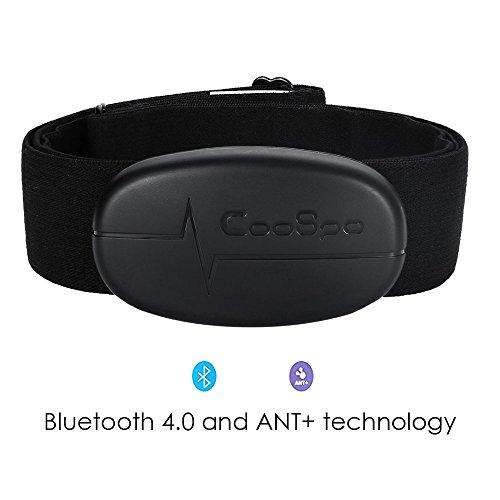 TAOPE Moniteur de fréquence cardiaque Bluetooth 4.0 et ANT + avec sangle de poitrine souple pour...