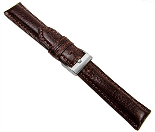 Ascot Ersatzband Uhrenarmband Kalbsleder Braun Chronoschließe 20615S, Stegbreite:22mm
