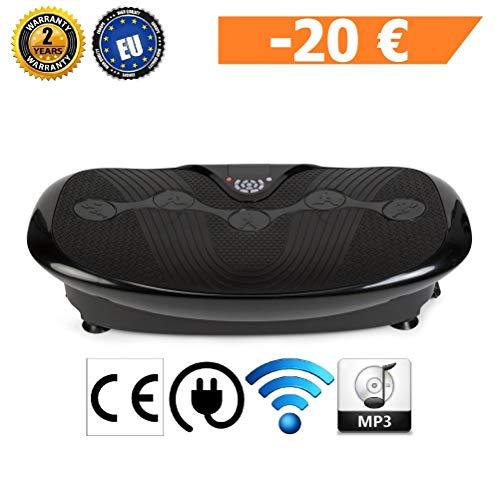 GLOBAL RELAX Zen Shaper Plus Schwingen Fitness Vibrationsplatte -Schwarze (Modell 2019)-3 Automodi, 10 manuellen -MP3 Musik-3 Funktionen (Gehen-Joggen-Laufen)-Offizielle 2 Jahre GARANTIE Deutschland
