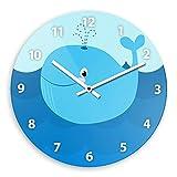 Wanduhr mit Wal-Motiv für Kinder   Kinderzimmer-Uhr   Kinder-Uhr