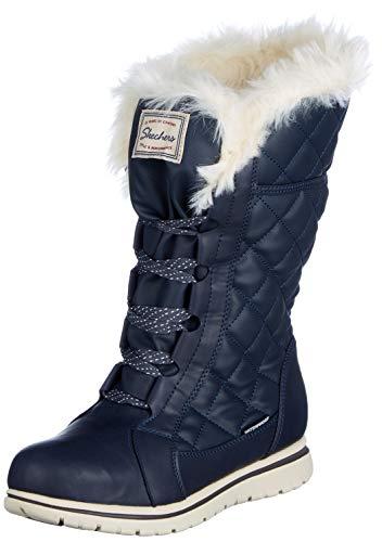 Skechers Damen Estate Biker Boots, Blau (Navy NVY), 38 EU (Skechers Schuh Stiefel Frauen)