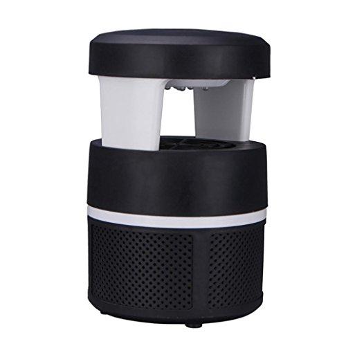Prevently Insektenvernichter Campinglampe Mückenkiller 5W LED Photokatalysator Moskito Lampe USB Moskito Lampe elektrische Moskito-Mörder-Lampen-Birnen-Wanzen-Insekt Zapper Pest Trap Light Home (Schwarz)