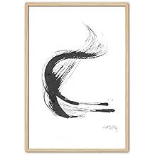 Cuadriman Wind Grande Cuadro, Madera, Blanco y Negro, 122 x 82 cm