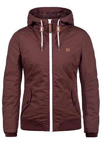 DESIRES Tilla Damen Übergangsjacke Jacke Mit Kapuze, Größe:XXL, Farbe:Wine Red (0985)