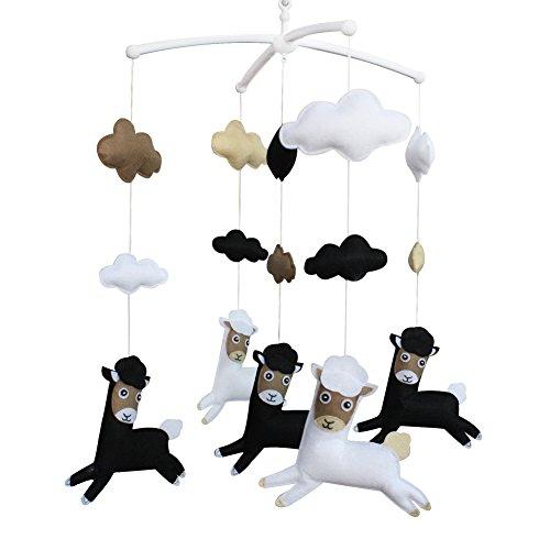 Baby-Geschenk Musik-Mobile, handgemachte hängende Spielzeug [Alpaka] Netter -