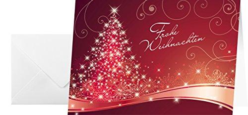 Sigel DS019 rote Weihnachtskarten, Set mit Umschlag, A6, 25 Stück - weitere Designs