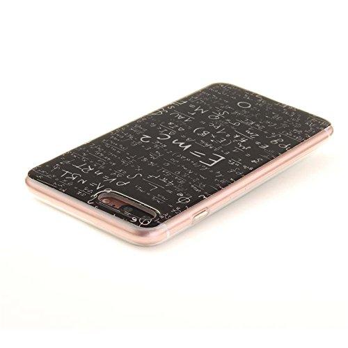 Hülle für Apple iPhone 7 Plus 5.5 zoll hülle Dünn Stil Licht Flexibel TPU Gel Case Bumper Malerei Muster Schwarz Löwe Farbe-10