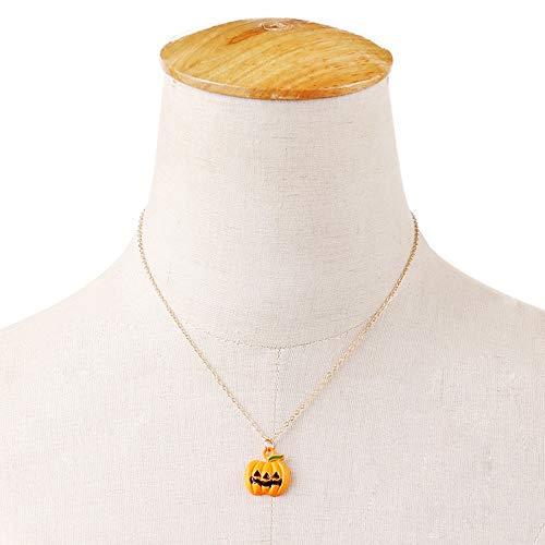 Fashion Classic Halloween Kürbis Gesicht Anhänger Ohrringe süße Kürbis Gesicht Anhänger Halskette Anhänger Frauen Schmuck Set ()