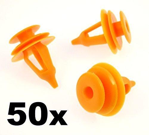 50 X Plastique Coupez vos Clips pour porte cartes Panneau de porte Fastener Clips Façade (67771 chargeur - 30090 Filet, 67771 chargeur - 17030, 67771 chargeur - 28030, 6777130090, 6777117030, 6777128030)